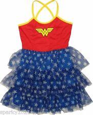 DC Comics Wonder Woman Tiered Cross Back Cami Mini Women's Dress Junior Size S