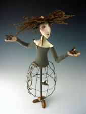 """*NEW* CLOTH ART CAGE DOLL (E-PATTERN) TUTORIAL """"THE GATHERER"""" BY CINDEE MOYER"""
