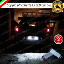 COPPIA PLACCHETTE LED TARGA 18 LED ALFA ROMEO 147 156 GT NO AVARIA 6000K BIANCO