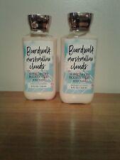 2 Bath And Body Works Lotion Boardwalk Marshmallow Clouds 8oz ea
