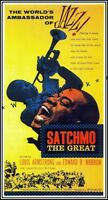 Louis Armstrong 1957 Satchmo The Great Vintage Poster Print Jazz Music Movie
