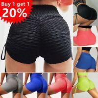 Women High Waist Yoga Shorts Butt Lift Scrunch Pants Booty Gym Tik tok Leggings