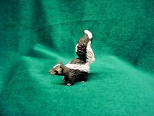 Skunk animal TiNy Figurine resin Hand Painted Miniature Collectible Mini Statue