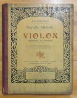 Manuale J.G. Pennequin Nouvelle Méthode de VIOLON en deux parties ED. Enoch 1900