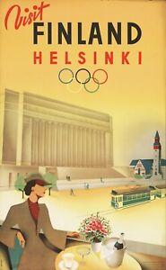 Vintage Travel Poster Visit Finland Helsinki