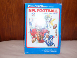Intellvision NFL Football, with instructions cards and original box