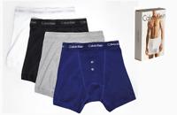 Calvin Klein Mens Boxer Short, Calvin Klein 4 Pack Long Boxers - Size S - XXL