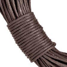 20 Meters Brown Wax Cotton 1mm Cord -Thread Macrame Jewellery DIY
