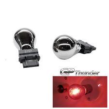GP Thunder 3157 3057 4157 Chrome Silver T25 Light Bulbs Red 2pcs