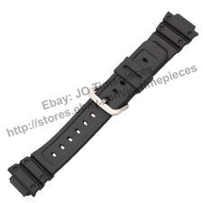 16mm Black Rubber Watch Strap Band Compatible for Casio GW-M5600 GW-M5610