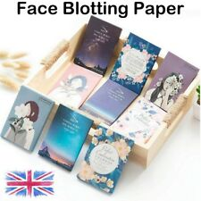 50 Sheets Face Absorption Oil Film Tissues Makeup Control Blotting Papers UK