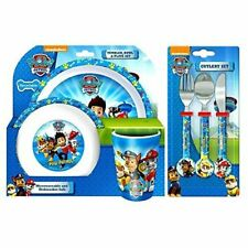 Paw Patrol Tumbler Bowl & Plate Dinner Set & Cutlery Set 100% Official