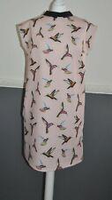 MOHITO Stunning Peter Pan Collar Dress Women's Medium Soft Pink L / LARGE