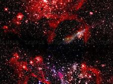 NEBULA DEEP SPACE RED CLOUDS STARS PHOTO ART PRINT POSTER PICTURE BMP2151A