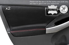RED STITCH 2X FRONT DOOR CARD TRIM COVERS FITS TOYOTA PRIUS 2010-2015