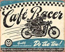 CAFE RACER BIKER MOTORCYCLE MOTORBIKE ROUTE 66 AMERICA METAL PLAQUE TIN SIGN 452