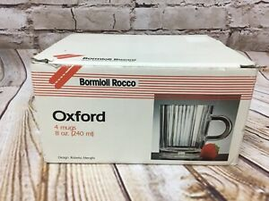 Bormioli Oxford Coffee Mug Cafe Americano Vitrosax Glass Italy Roberto Menghi
