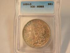 1884 O MORGAN DOLLAR ICG MS65 COLOR SHOULD BE MS66