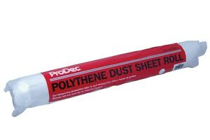 ProDec 50m x 2m Roll Polythene Dust Sheet Decorators Cover Low Density (PDPY005)