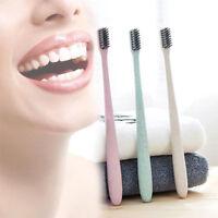 1 x Soft Bamboo Charcoal Toothbrush nano Brush Oral Dental Clean Wheat straw