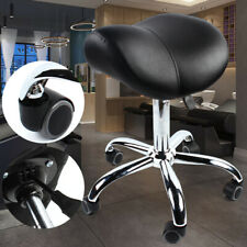 BRAND NEW 1PCS Saddle Chair Adjustable W/ PU Casters For Salon & Spa Supplies US