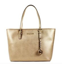 Michael Kors * Jet Set Travel TZ Leather Tote Bag in Pale Gold COD PayPal