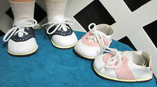 Doll Shoes, 85mm Saddles - 2 pair special!  Factory Seconds $19.60 value! DESC*