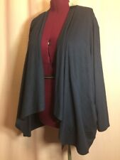 NWT- Catherine's 4X 5X? Navy Blue Cardigan Top Any Wear Open Front Shawl  ID#X10