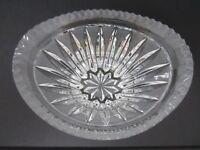 Vintage Crystal Glass Serving Bowl Oval Shape  - Unusual!