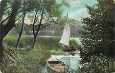 Walsham~Small Sailboat Among the Reeds 1910