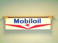 Mobil OIL Banner officina o garage STILE VINTAGE Insegna PUBBLICITARIA