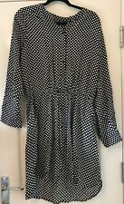 LADIES BLACK AND WHITE SPOT DRESS SIZE 12 BNWT