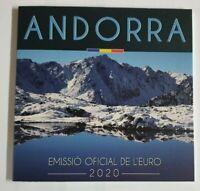 Offiz. KMS / Kursmünzensatz 1 Cent - 2 Euro Andorra 2020 * BU * im Blister