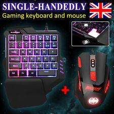 Gaming Keyboard & Mouse Set Anti-slip USB LED Illuminated For PS4 Xbox One 360
