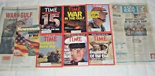 Lot GULF WAR COLLECTION Time,USA Today,Newsweek 1991 magazines newspapers VG+/EX