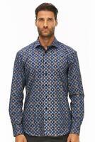 Cavallaro Napoli - Hemd Renzo Herren blau Karomusterung Designer Neu: 99€