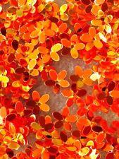 Flower Sequins Tangerine Orange Petal Hi Shine 10mm Not Flat Read Description