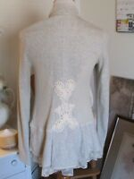 Anthropologie Angel of the North Gray Cardigan Sweater Size M