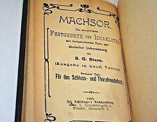 Rosh Hashanah Yom Kippur Fest Gebete Israeliten German Jewish Prayer Book 1909