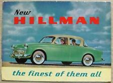 HILLMAN MINX Car Sales Brochure 1956-57 #456/2/66/60/H  De Luxe CONVERTIBLE