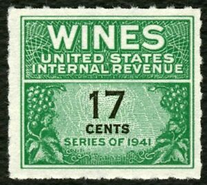#RE186 17c Wines, Mint NGAI NH [1] **ANY 4=FREE SHIPPING**