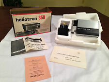New! Vintage HELIOTRON 350 Electronic Flashgun w/ AC Adapter LOEWE OPTA GERMANY