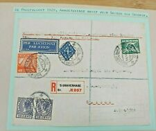 1929 REG. AIRMAIL COVER NEDERLAND TO FRANCE SAIGON VIA BANGKOK B98.10 $0.99