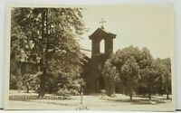 Upland California Episcopal  Church 1932 RPPC Real Photo Postcard J1