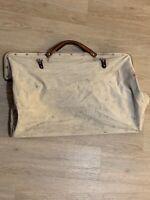 Vintage Canvas Bag Leather Handles