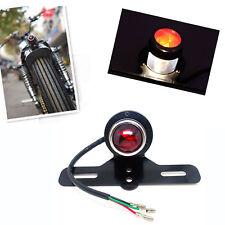 Black Motorcycle Tail Brake Light Lamp For Harley Bobber Chopper Cafe Racer