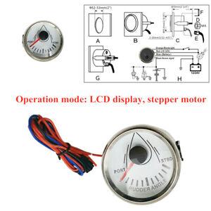 52mm 6LCD Display Rudder Angle Indicator Gauge Meter Marine Stlye IP67 Dustproof