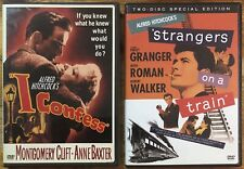 Lot of 2 Ex-Rental Alfred Hitchcock Dvds I Confess Strangers On A Train