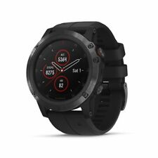 Garmin fenix 5X Plus Sapphire Black with Black Band with TOPO Maps 010-01989-00