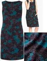 Capsule Marisota Size 24 Green Palm Print Linen Cotton Blend Shift Dress